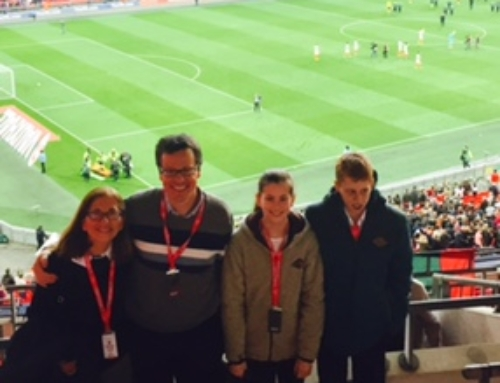 Seb's day out at Wembley with Box4Kids