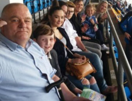Box4Kids gives VIP experience to seriously ill sports fan