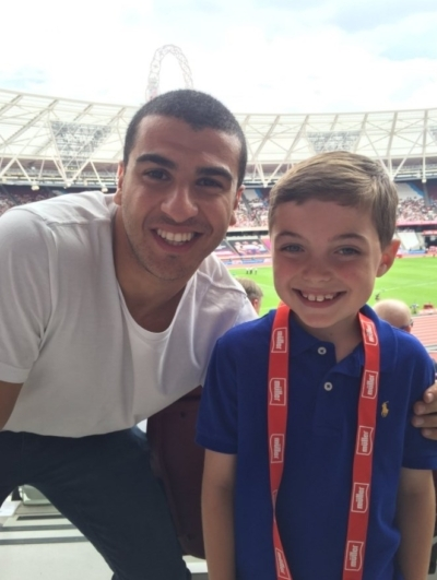 Athletes surprise Box4Kids at Anniversary Games
