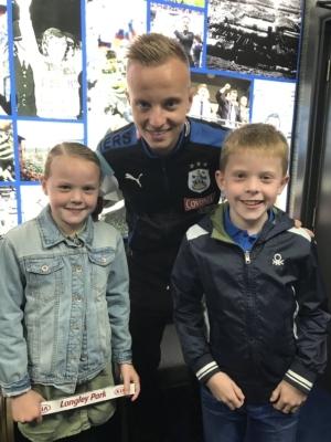 Box4Kids' first visit to Huddersfield Town