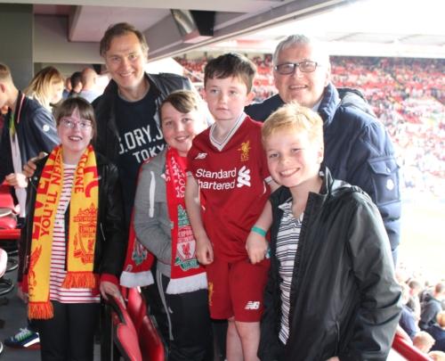 David Morrissey co-hosts Box4Kids at Liverpool FC